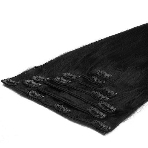 Clip in Vlasy 50cm 70g Extra Cierna 01-0