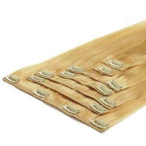 Clip in Vlasy 50cm 70g Najsvetlejšie Blond 613-0