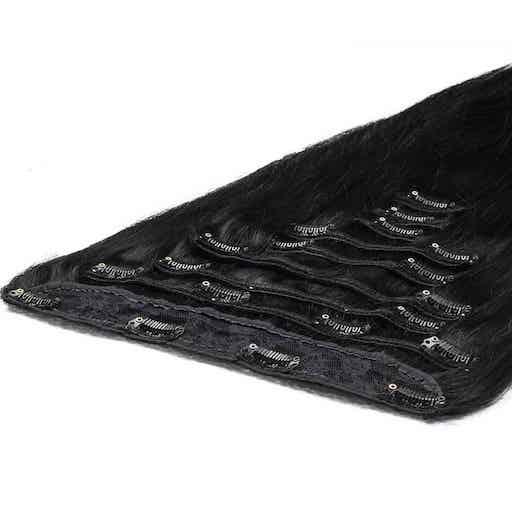 Deluxe Clip in Vlasy 50cm 200g Extra Cierna 01-0