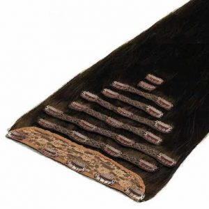 Deluxe Clip in Vlasy 50cm 200g Mochaccino Hnedá 1C-0