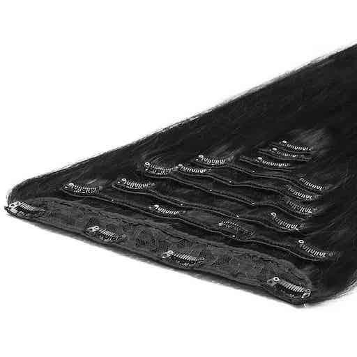 Deluxe Clip in Vlasy 50cm 200g Prirodzená Cierna 1B-0