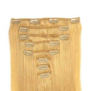 Clip in Vlasy 60cm 160g Najsvetlejšie Blond 613-0