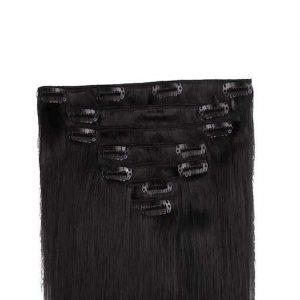 Clip in Vlasy 60cm 160g Extra Cierna 01-0