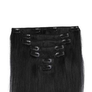 Clip in Vlasy 60cm 160g Prirodzená Cierna 1b-0