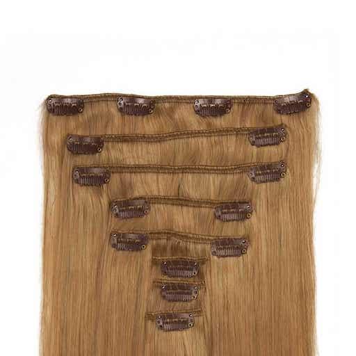 Clip in Vlasy 60cm 160g Jahodová Blond 27-0