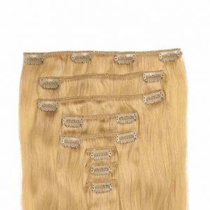 Clip in Vlasy 60cm 160g Zlatá Blond 22-0