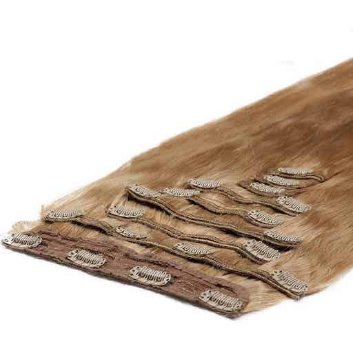 Deluxe Clip in Vlasy 50cm 200g Jahodová Blond 27-0