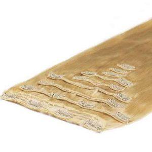 Deluxe Clip in Vlasy 50cm 200g Zlatá Blond 22-0